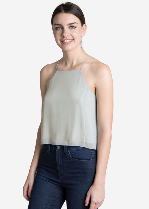 The Best Stores to Shop for Fashion Basics: Grana Silk Halter Neck Cami | Summer style 2017