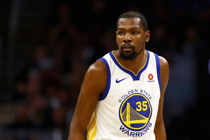 Kevin Durant mid-game