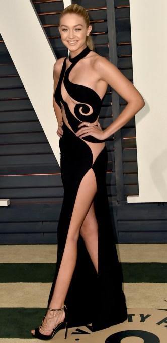 Gigi Hadid naked dress