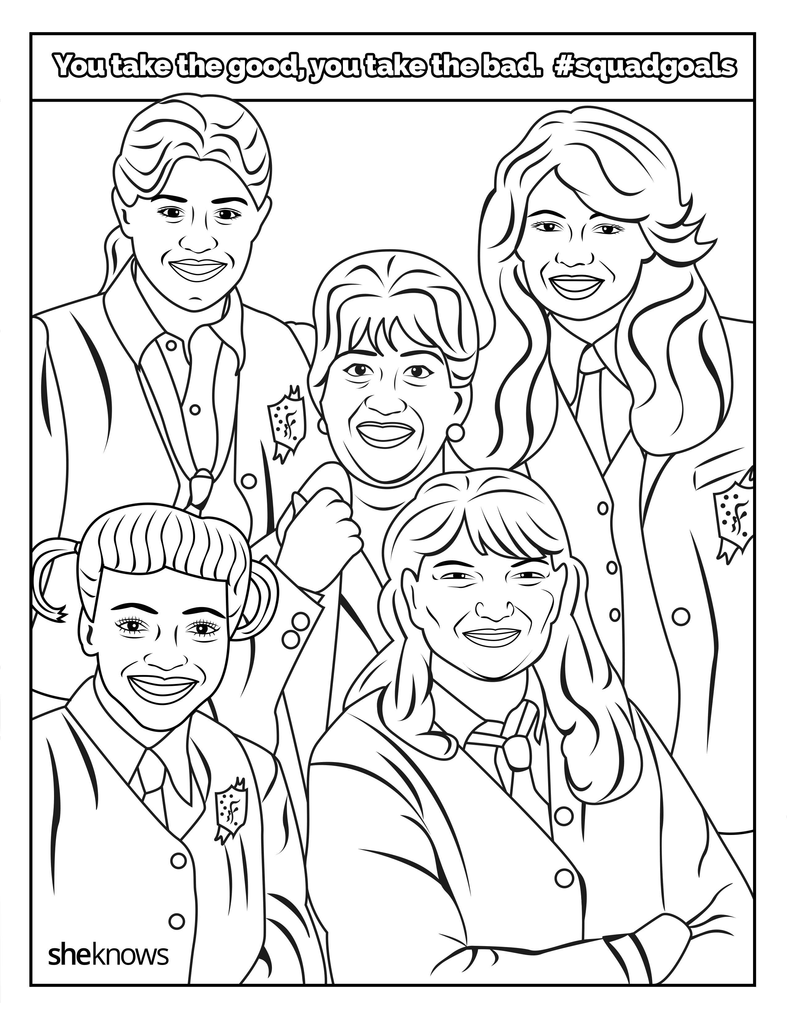 The Ultimate Squadgoals Coloring Book Print It Color It Live It