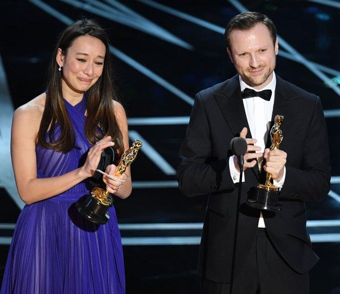 Orlando Von Einsiedel And Joanna Natasegara Oscars 2017
