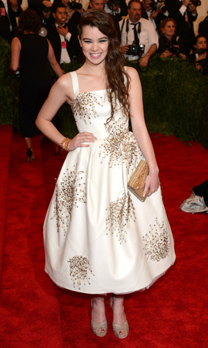 Hailee Steinfeld at the Costume Institute Gala 2013 for the 'PUNK: Chaos to Couture' exhibition at the Metropolitan Museum of Art