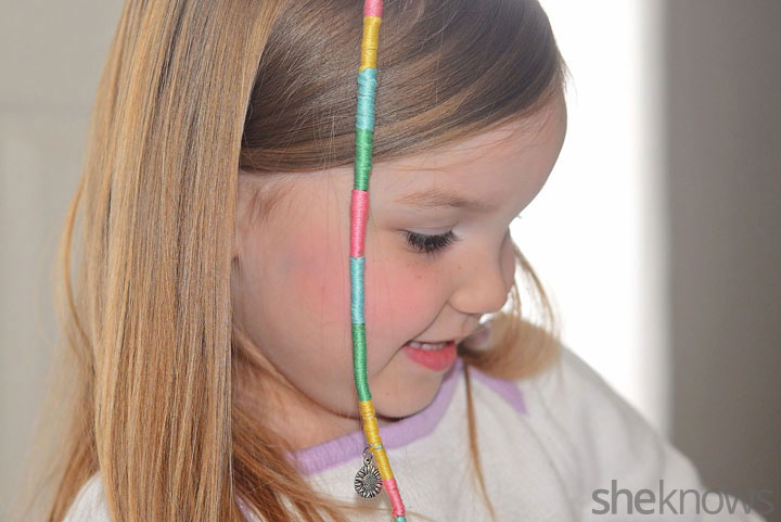DIY hair wrap for kids