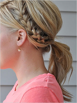 Half french braid ponytail | Sheknows.com