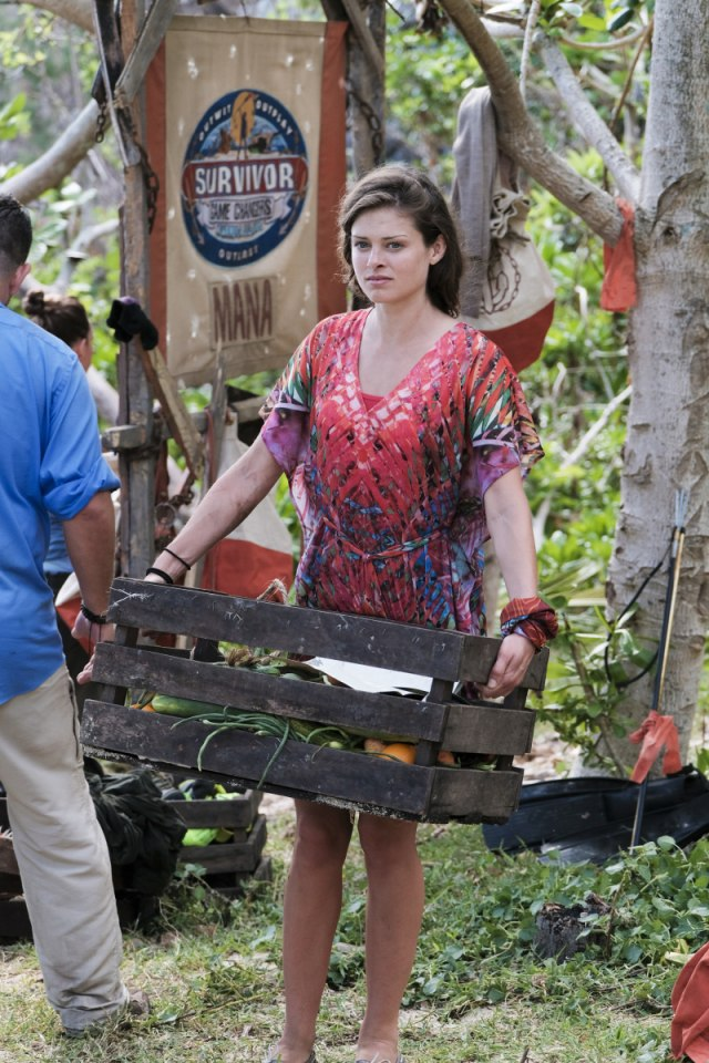 Hali Ford at Mana camp on Survivor: Game Changers