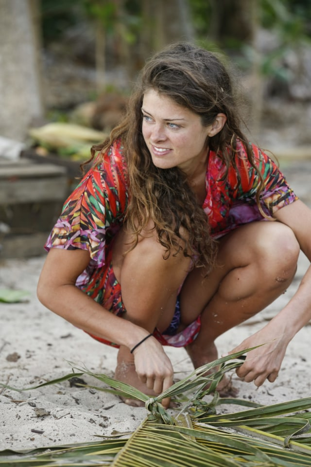 Hali Ford at camp on Survivor: Game Changers