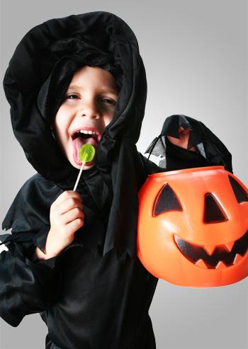 Halloween boy with lollipop