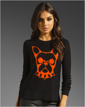 black Jacquard pullover