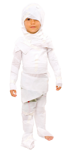 Child dressed as mummy