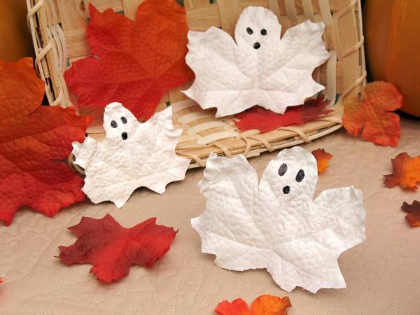 Creepy leaf cut ghosts