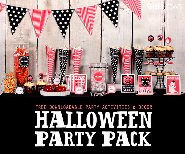 Free Halloween party pack