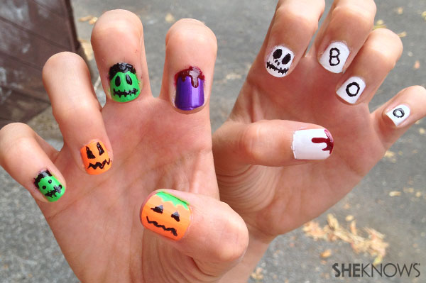 Halloween nail art | Sheknows.ca - final product