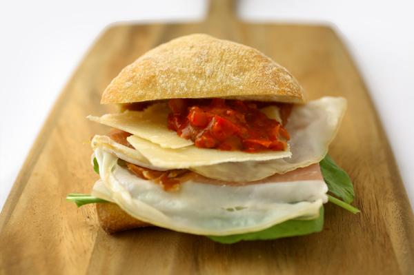 Gluten free ham sandwich