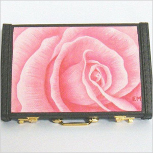 Hand-painted business card holder