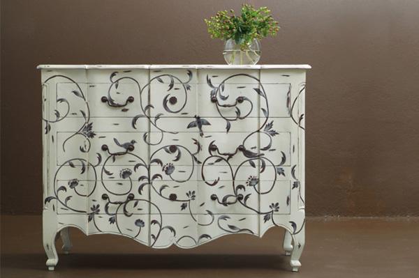 Handpainted dresser