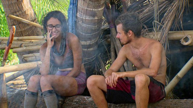 Hannah Shapiro and Adam Klein talk at camp on Survivor: Millennials Vs. Gen-X