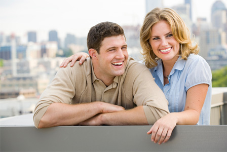 Happy couple in Seattle