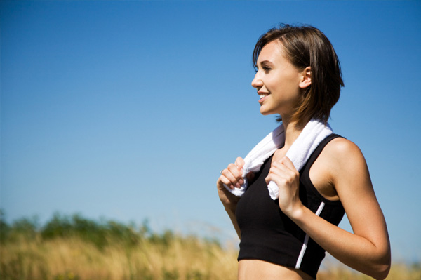 woman happy after exercising