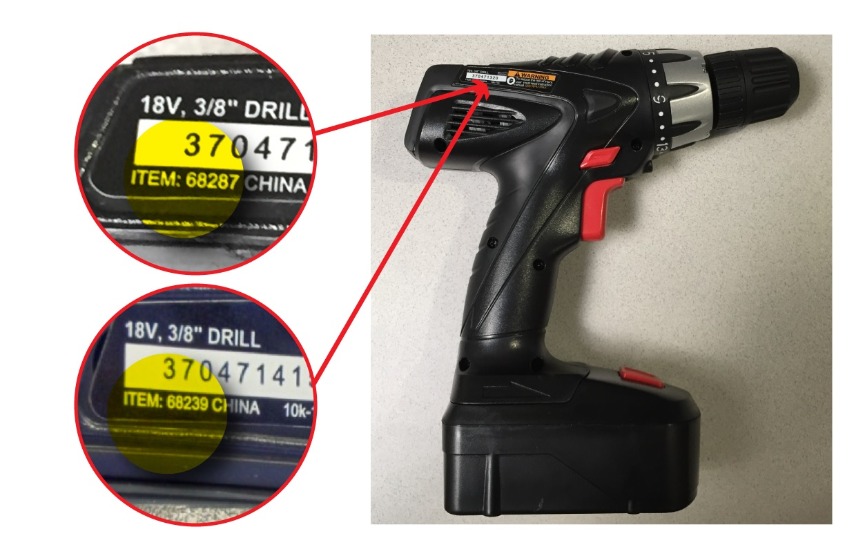 Harbor Freight Tools drill recall