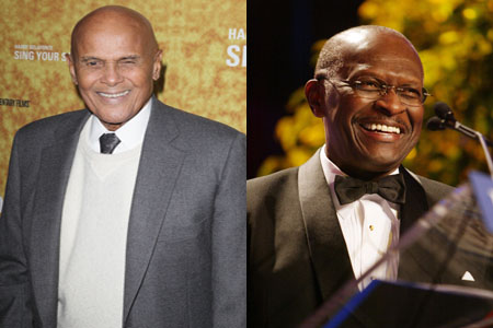 Harry Belafonte criticizes Herman Cain