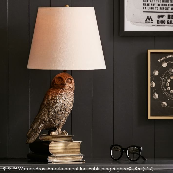 Gifts for Impossible People | Harry Potter Hedwig Lamp at Pottery Barn Teen