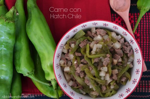 Carne con Hatch chile