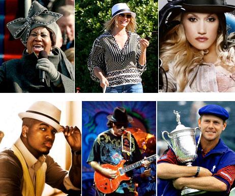 Celebrity hat styles