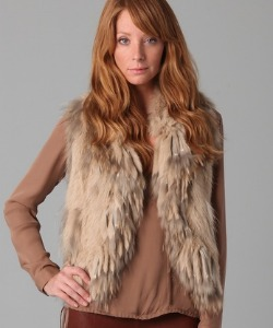 Haute Hippie Knit Bunny Vest