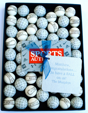 Golf balls and a gift card