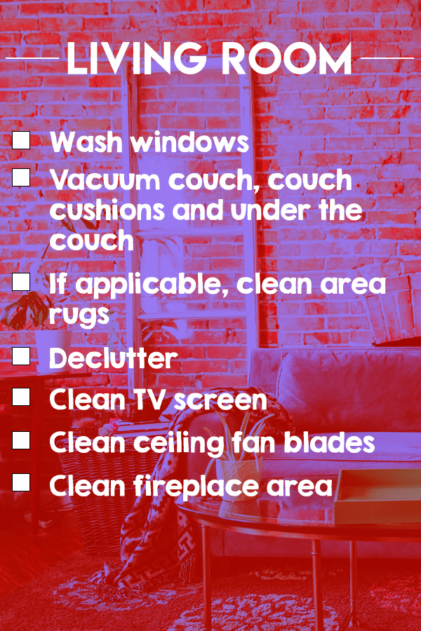 A Living Room Cleaning Checklist