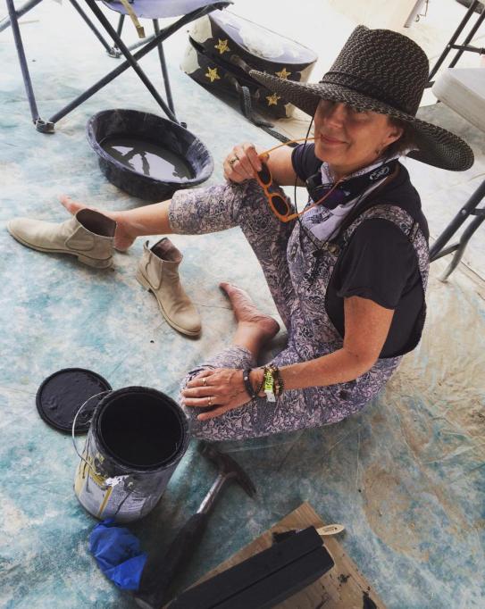 Susan Sarandon at Burning Man