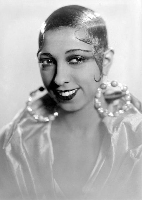 Josephine Baker Slicked Hair
