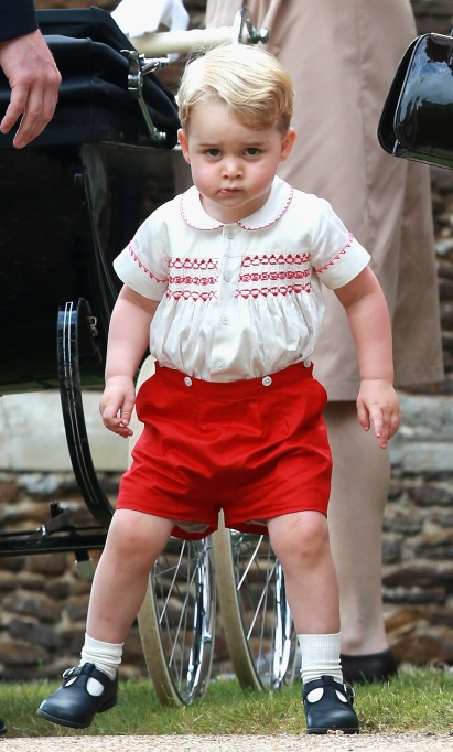 Prince George at his sister's christening