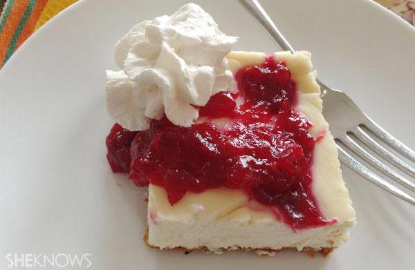 Recipe revamp: Cranberry cheesecake