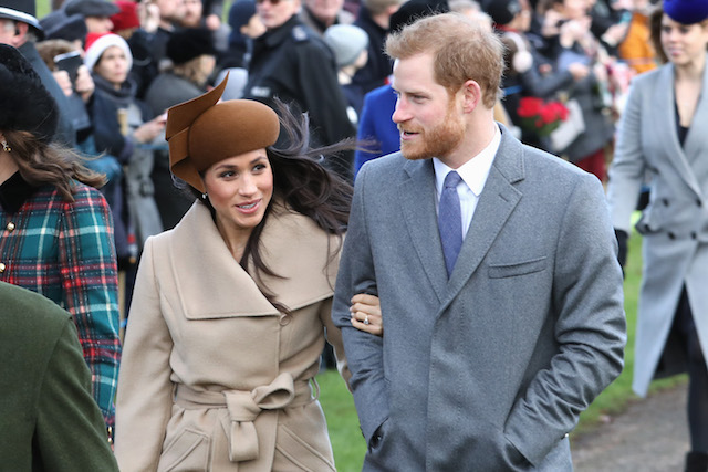 Meghan Markle and Prince Harry attending the Christmas Day Church service at Church of St Mary Magdalene