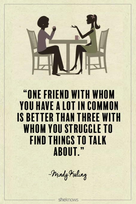 Mindy Kaling quote about friendship