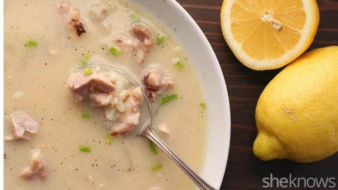 Low-carb Greek lemon chicken soup is
