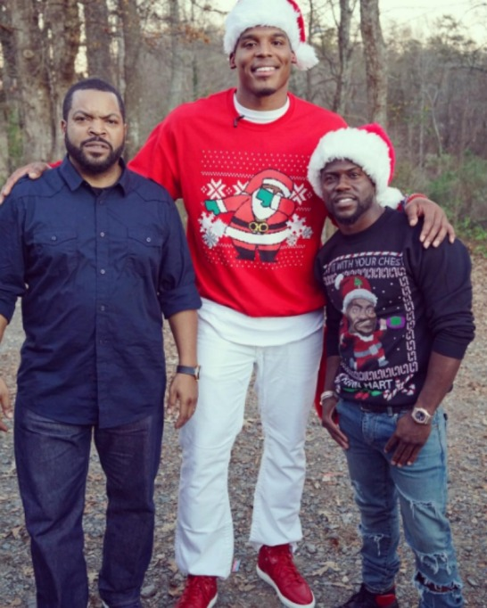Kevin Hart ugly Christmas sweater