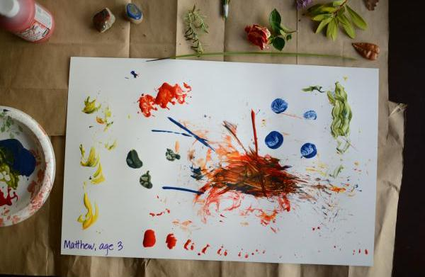 Unexpected paintbrushes for little hands