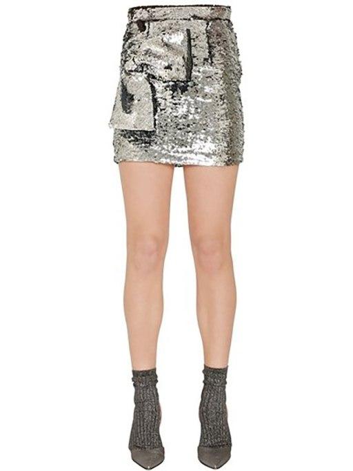 Non-Cheesy Ways to Wear Sequins: Daniele Carlotta skirt | Fall Fashion Trends 2017