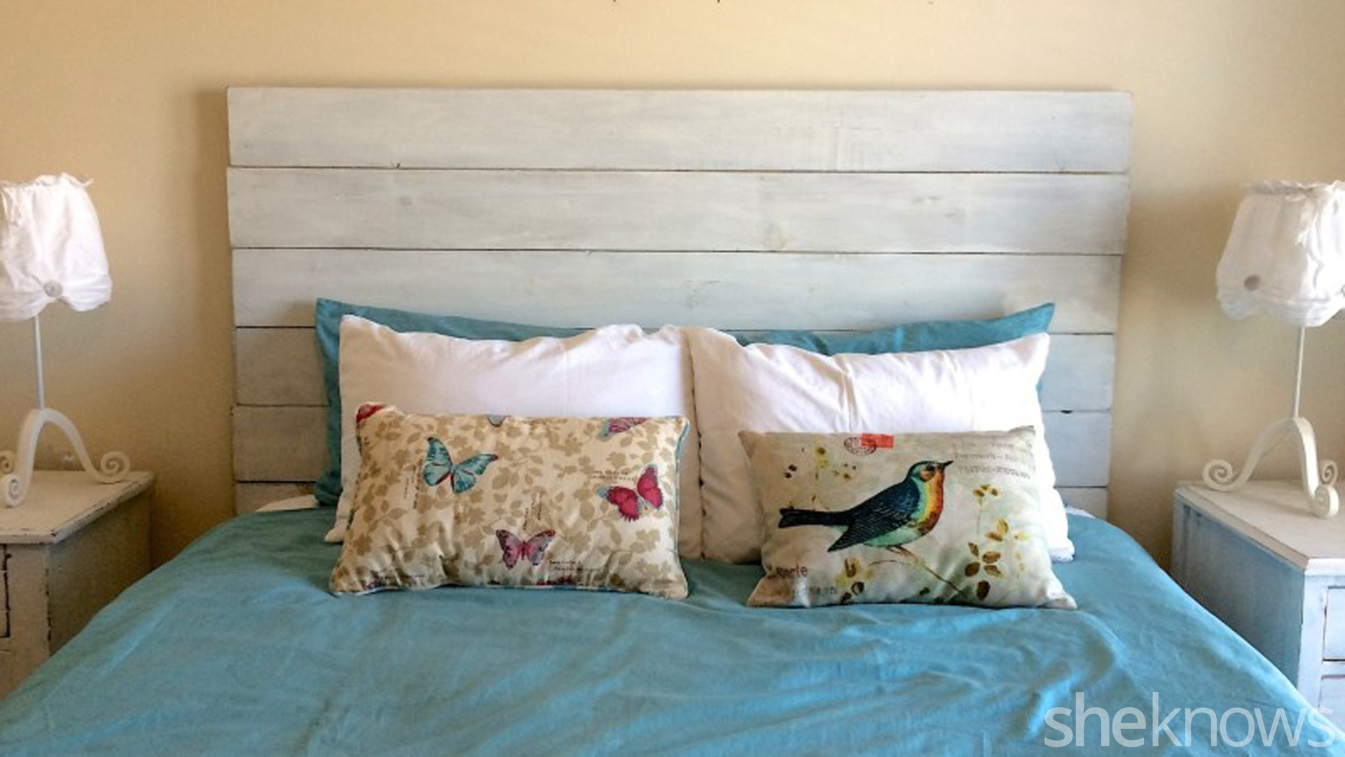 Diy Wooden Headboard Makes Your Bedroom Instantly Farmer Chic Sheknows
