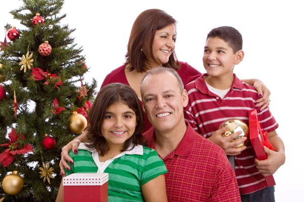 healthy family during the holidays