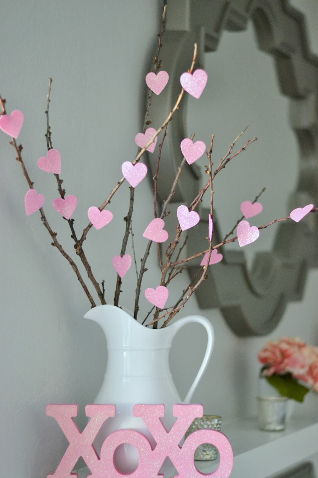 Valentine's Day Decor: Heart branches
