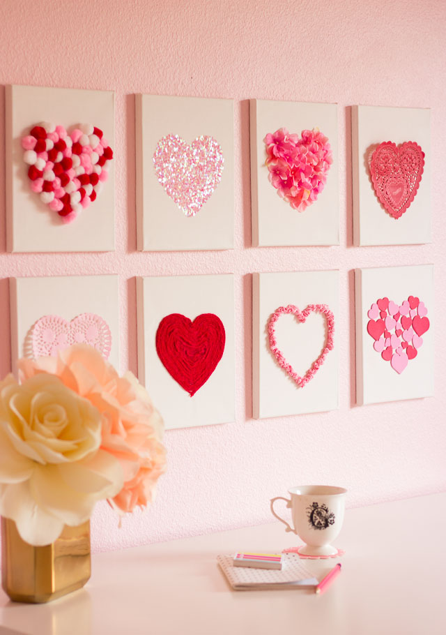 Valentine's Day Decor: Heart on Canvas