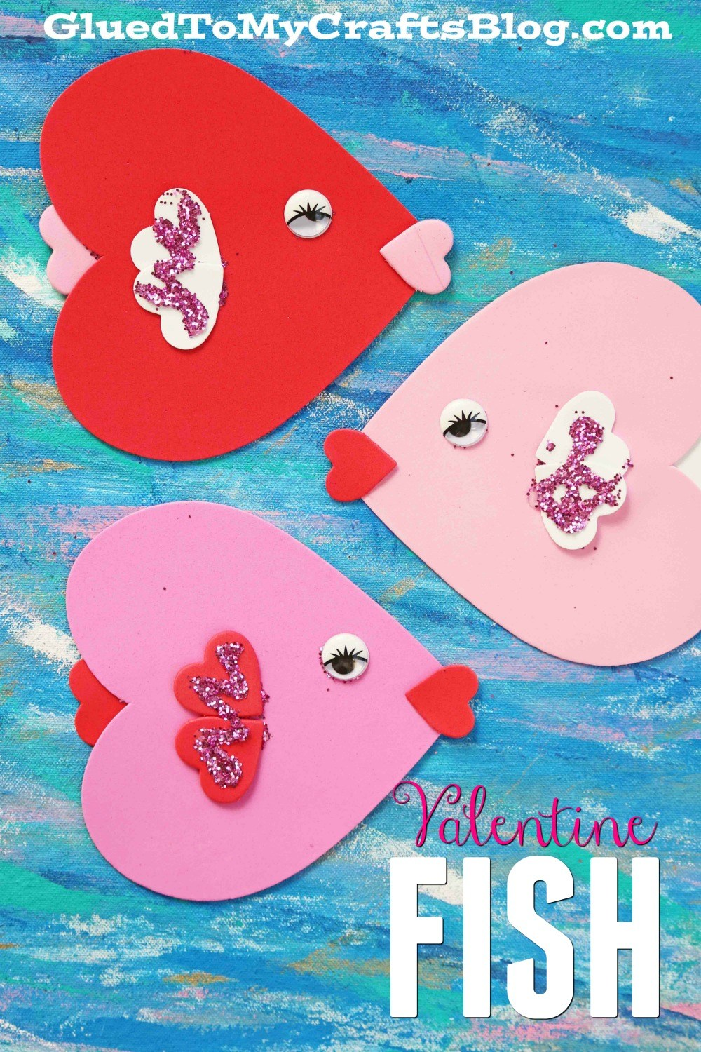 Heart-Themed Kid's Craft for Valentine's Day: Heart fishes