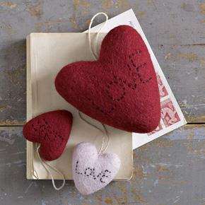 Heart-shaped ornaments