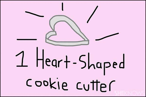 Heart-shaped cookie cutter - SheKnows.com