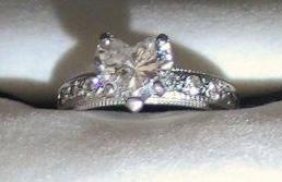 Platinum Heart-Shaped Engagement Ring