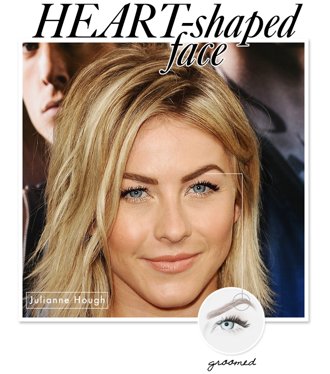 Eyebrow Shapes to Flatter Your Face: Heart