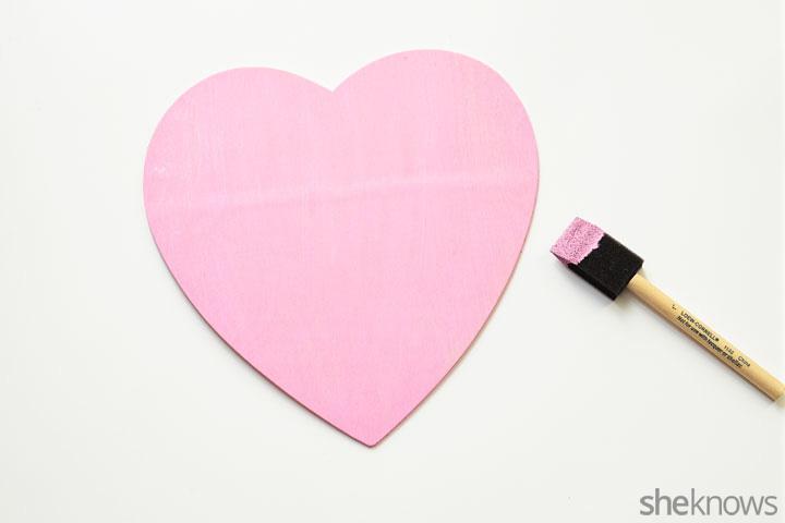 Candy heart wreath step 1